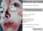Eastlit Live Art & News. April 2014. Post by Graham Lawrence. Thomas Donaldson Flyer  for Where is My Head Art Show.