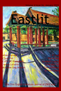 Eastlit January 2015 Cover. Picture: Seattle Asiatown Temple by Allen Forrest. Cover design by Graham Lawrence. Copyright photographer, Eastlit and Graham Lawrence.